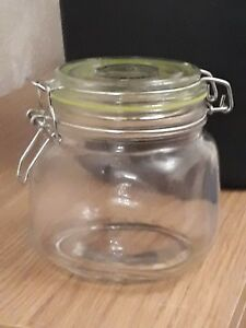 Small-Glass-Storage-Jar-With-Air-Tight-Sealed-Metal-Clamp-Lid