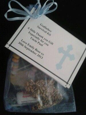 Parrain Kit de survie vous remercier pour cadeau Baptême Baptême parrains