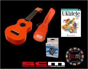 UKULELE-STARTER-PACK-U30O-ORANGE-SOPRANO-UKE-GIG-BAG-PLAY-UKULELE-DVD-TUNER