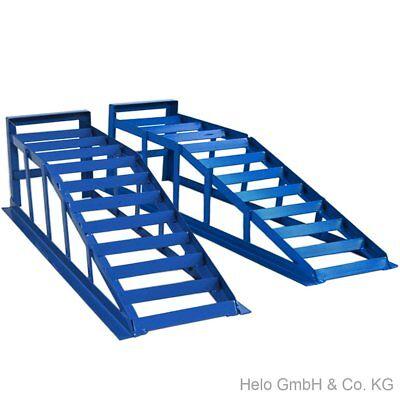 245 blaue Auffahrrampen 2 Stück je 2000 kg extra breit PKW Rampe bis 245er Räder