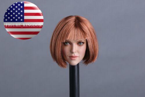 "1//6 Female Head Sculpt Short Hair GC009 D For 12/"" PHICEN Verycool KUMIK Figure"