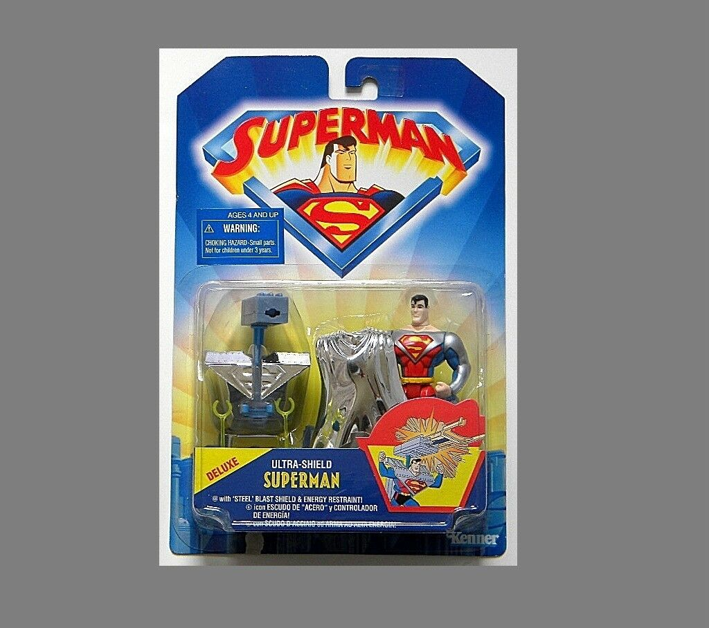 DC SUPERMAN DELUXE ULTRA-SHIELD SUPERMAN RARE MOC FROM KENNER