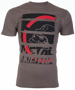 METAL-MULISHA-Mens-T-Shirt-STRATEGIC-Motocross-Racing-CHARCOAL-Biker-Fox-30