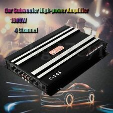 1600 Watt 4 Channel 12V Car Amplifier Amp Audio  Truck Amplifiers Speaker Stereo
