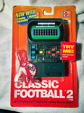 NEW Classic Football 2 Electronic Handheld Game by Mattel SEALED 2002 foot ball