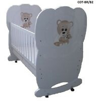 Brand Baby Cot Wood & Mdf Colorful Cot Bed Teddy Bear Cot Bed