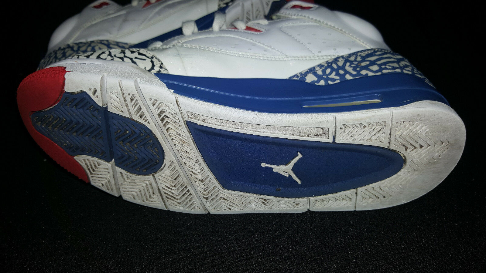 more photos 9f7ec 82428 ... JORDAN 2013 SON SON SON MARS Ture Blue Fire Cement White Sz 7.5  Blue Red ...