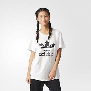 Contar Muelle del puente Solo haz  Adidas Originals AB2448 para mujer grande logotipo Camiseta Lunares Trébol  Relaxed Fit | eBay