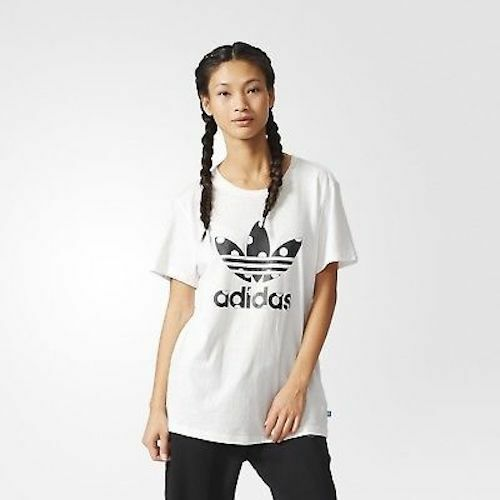 Adidas Originals AB2448 Women/'s Big Logo Tee Polka Dot Trefoil Relaxed Fit