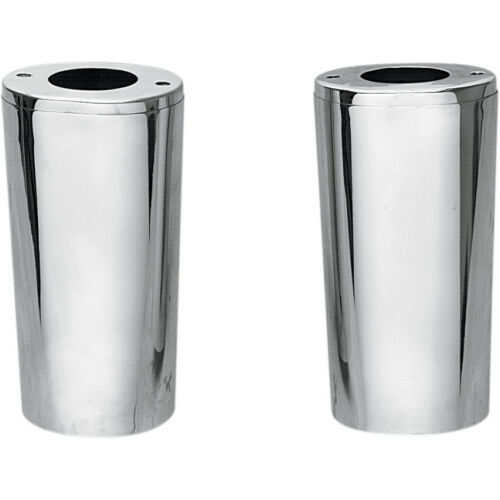 """4/"""" Smooth Fork Slider Covers Boots for Harley Drag Specialties Chrome"""