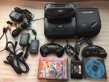 Sega CD Model 2 + 32X + Genesis - All Hookups - Tested/Works great! + Games