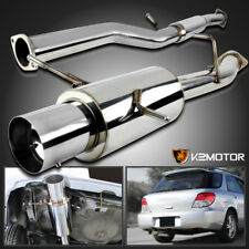 "For 02-07 Subaru Impreza WRX STI S/S Catback 3"" Pipe Exhaust 4.5"" Slant Tip"