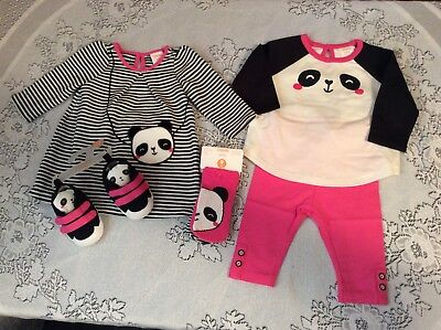 NWT GYMBOREE BABY HOLIDAY TEDDY BEARS VELOUR PANTS 0 3