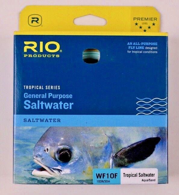 Rio General Purpose Saltwater WF10F Fly Line Aqua Sand Libre Ship 6-20044
