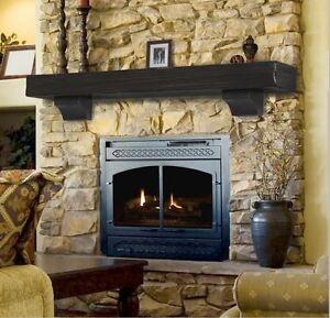 Pearl Mantel Shenandoah rustic fireplace mantel shelf. Pick size, finish