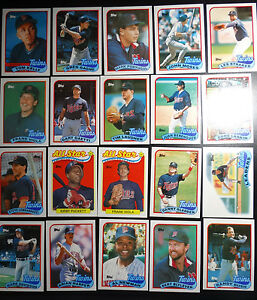 1989-Topps-Minnesota-Twins-Team-Set-of-29-Baseball-Cards