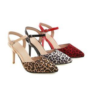 Womens Sexy Leopard Print Pointy Toe