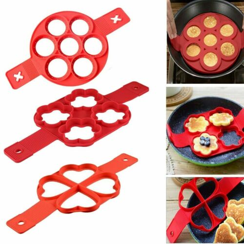 Flipping PANCAKE MAKER Non Stick Silicone Mold Breakfast Omelette Mould Tool UK
