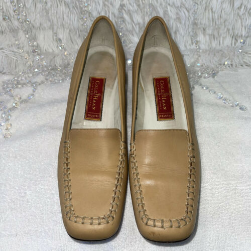 Cole Haan Country Leather Loafers Womens 8AA Tan … - image 1