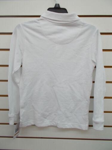 Boys Nautica $28 White Uniform Long Sleeved Polo Shirt Size 6-14//16