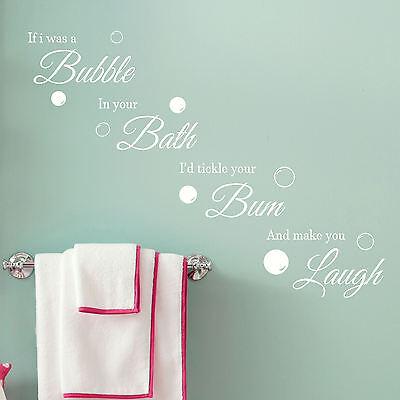Bathroom Quote Wall Art Sticker Bubble Bath Laugh Vinyl Decal Transfer  Graphic | eBay