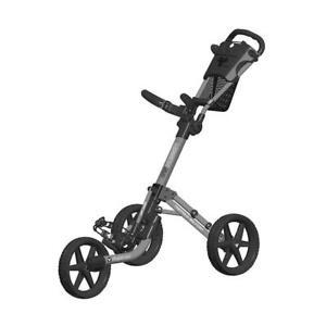 FastFold-Mission-5-0-3-Wheel-Golf-Trolley-Matt-Grey-Black