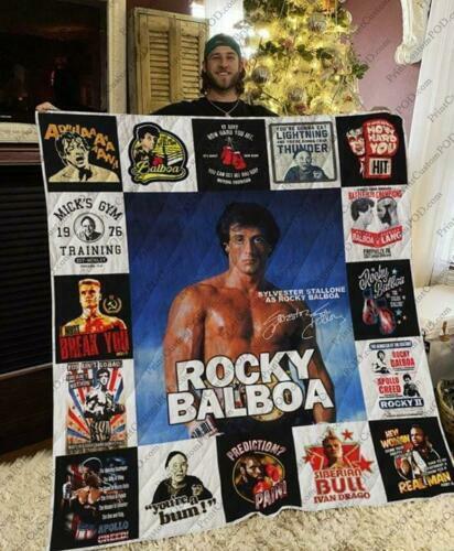 Rocky Balboa/'s Signature Sylvester Stallone As Rocky Balboa Sofa Fleece Blanket