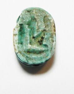 New Kingdom Glazed Stone Scarab Supply Zurqieh Ancient Egypt 1300 B.c as10309