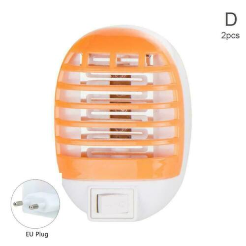 2pcs Electric UV Light Mosquito Killer Insect Fly Zapper N Catcher Bug Trap H3Q7