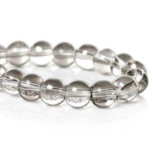 105 beads Smoky Gunmetal Glass Beads 6mm With a Metallic Sheen 1 Strand BD826