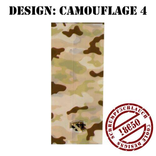 2 Stück Schrumpfschlauch Wrap Schlauch für 18650 Akku Camou Versand aus DE