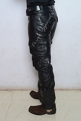 Leather biker military army cargo pant harley davidson vulcan cruiser GTC 1