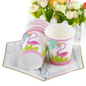 10X-Flamingo-Paper-Cups-Kids-Happy-Birthday-Wedding-Party-Decor-Flamingo-Cup-rs