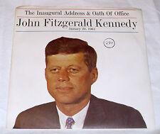 John F. Kennedy [JFK]: Inaugural Address / Oath of Office   [Unplayed Copy]