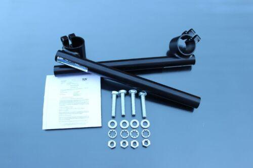 MANUBRIO-moncherino mozzicone Manubrio Nero 36mm 36 mm clip on CAFE RACER BAR BLACK