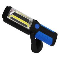 Portable Led Work Light Flashlight Torches Hanging Hook Magnetic Base Red Blue