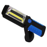 Portable Led Work Light Flashlight Torches Hanging Hook Magnetic Base Red Blue