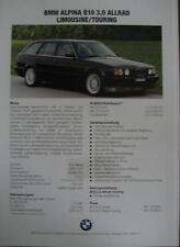 Prospekt BMW ALPINA B10 3,0    10/1993 (Limousine/Touring Basis 5er E34)