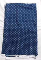 Brother Sister Design Studio Fabric Blue With White Dot 1.5 Yd 44 Wide 4404