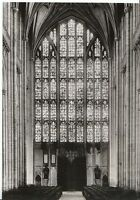 Hampshire Postcard - Winchester Cathedral - The West Window - Real Photo  AB311