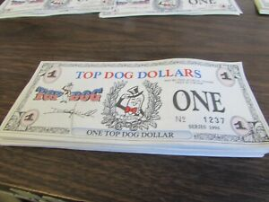 VINTAGE LOT 63 CONSECITIVE TOP DOG DOLLARS 1996 SERIES ...
