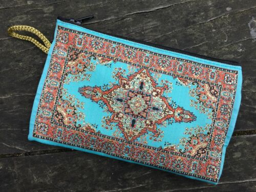 Zippered Storage Bags Hippie Gypsy Boho Persian Kilim Patterned Coin Purses
