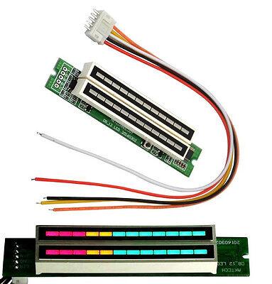 Dual 12 Level indicator VU Meter Stereo Amplifier Board Light Speed Board New