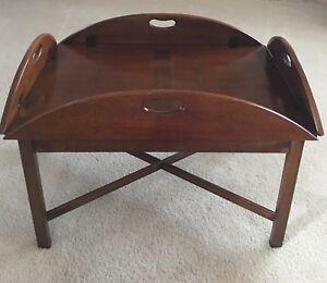 Image Is Loading Hickory Chair Company Mahogany Butler 039 S Tray