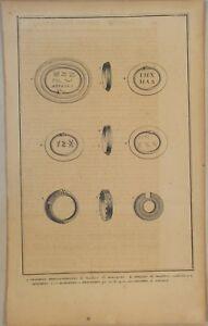 Hieroglyphen-MOLUKKEN-Original-Kupferstich-um-1720-ALCHEMIE-Quroboros-Schlange