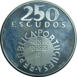 PORTUGAL-250-ESCUDOS-1974-KM-604-SILVER-REVOLUTION-1974-PROOF-LIKE-T22