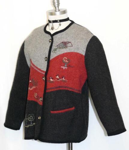 laine bouillie noire 16 741587280354 d'hiver rouge allemand Veste en pièces pull Cardigan et qHFtgEx