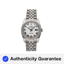 Rolex Datejust Auto 36mm Steel White Gold Mens Jubilee Bracelet Watch 116234