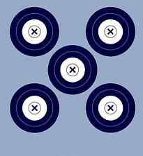NFAA Style Five(blue)/Single Spot DS Archery Paper Targets - 17.5x19.5 - 43 Qty