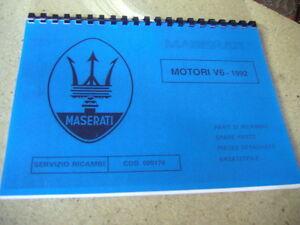 maserati motori v 6 ersatzteilkatalog parts manual 222s 222sr racing